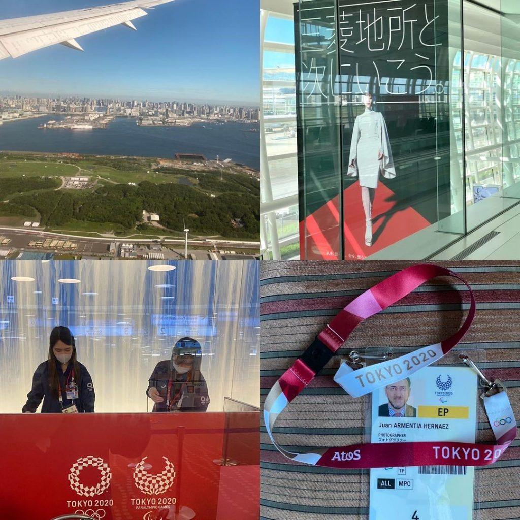 Llegada a Japón para la paralimpiada de Tokyo 2020